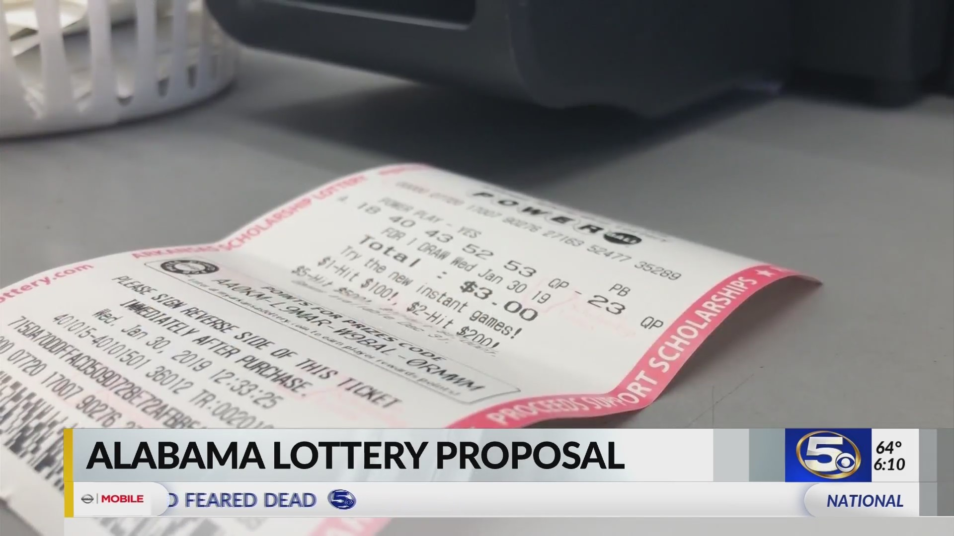 Powerball Draws Several Alabama Players As The Lottery Debate Begins