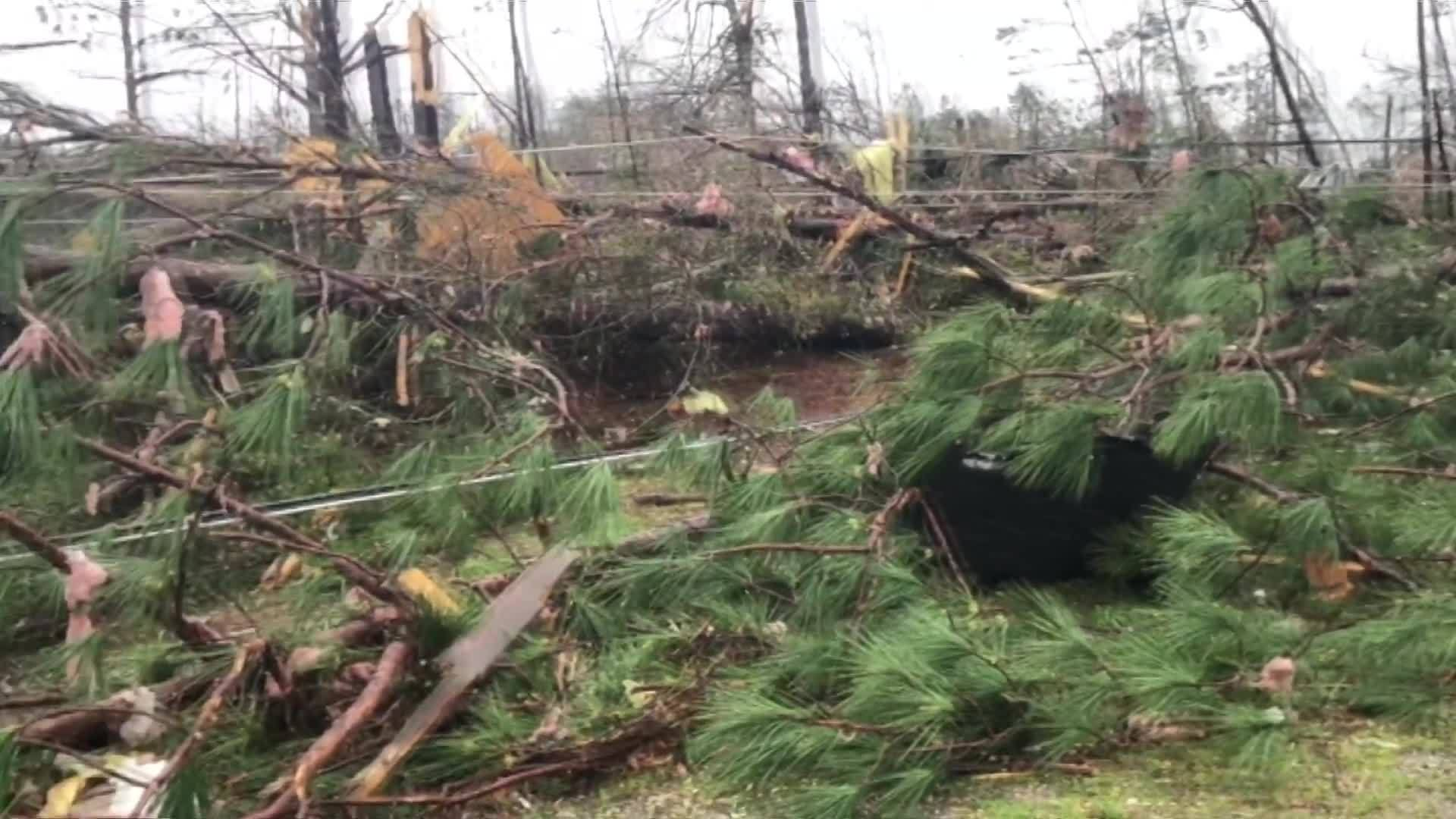 At least 14 people dead in Lee County following tornado