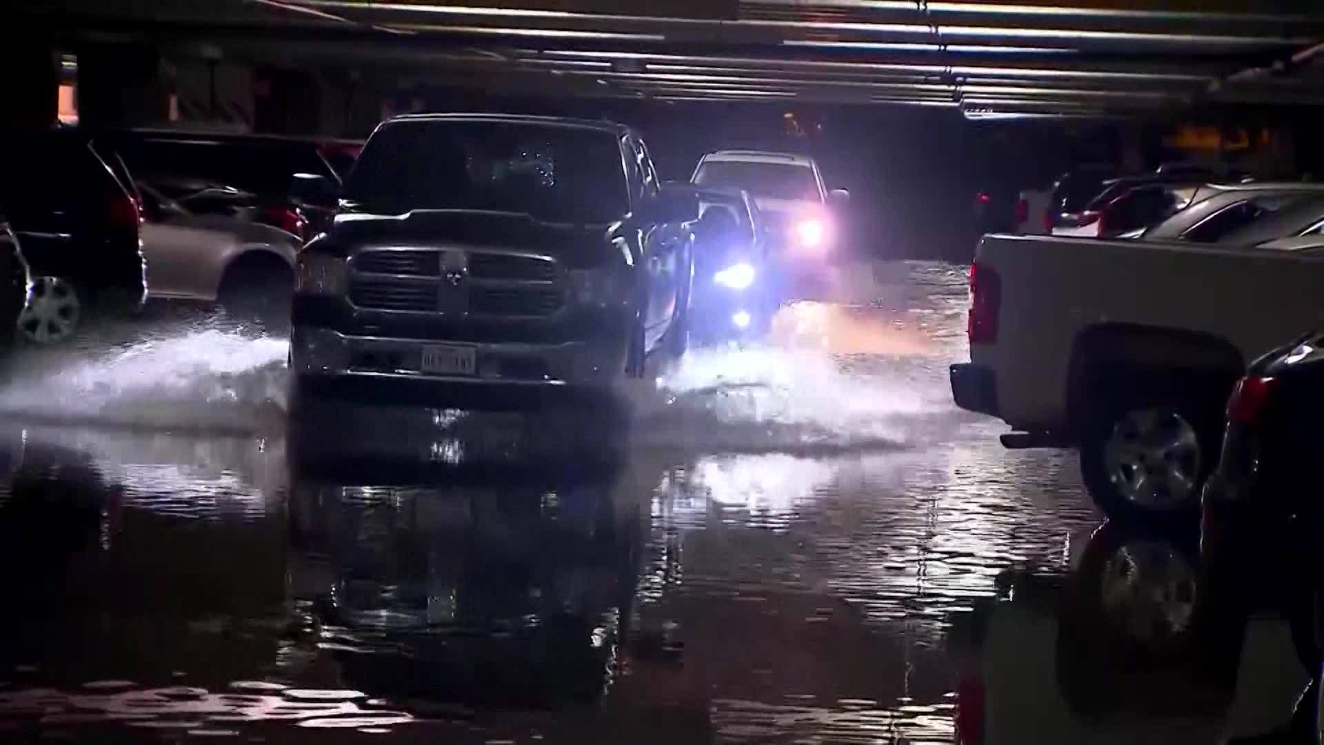 Flooding at Dallas Love Field Car Garage