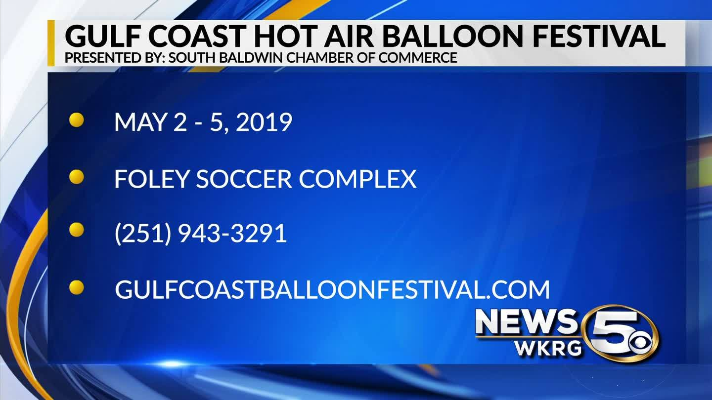 Gulf Coast Hot Air Balloon Festival is May 2-5, 2019