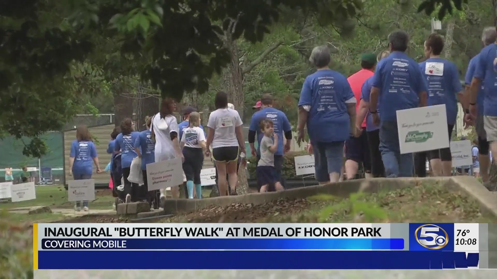 "Inaugural ""Butterfly Walk"" Saturday"