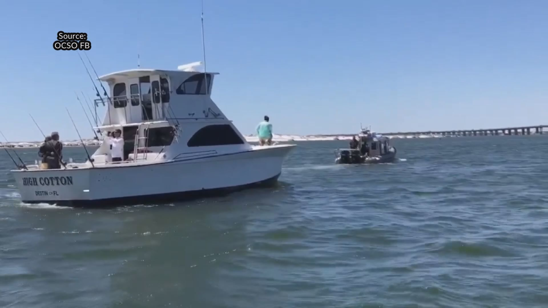 OCSO helps in Coast Guard boat tow