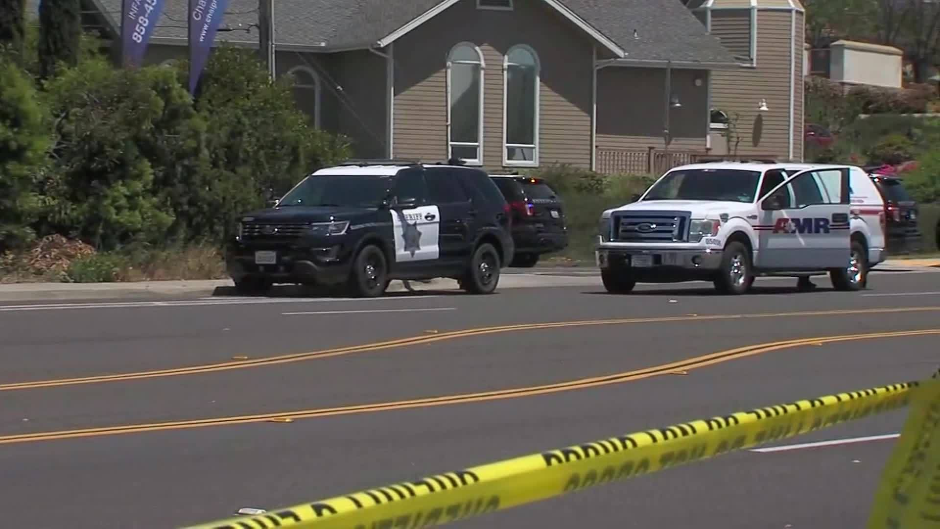 Scene video of California Synagogue shooting