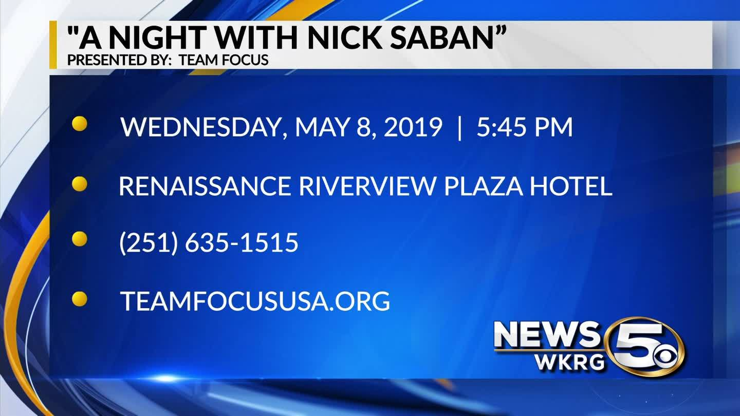 "Spend ""A Night with Nick Saban"" on May 8 in Mobile"