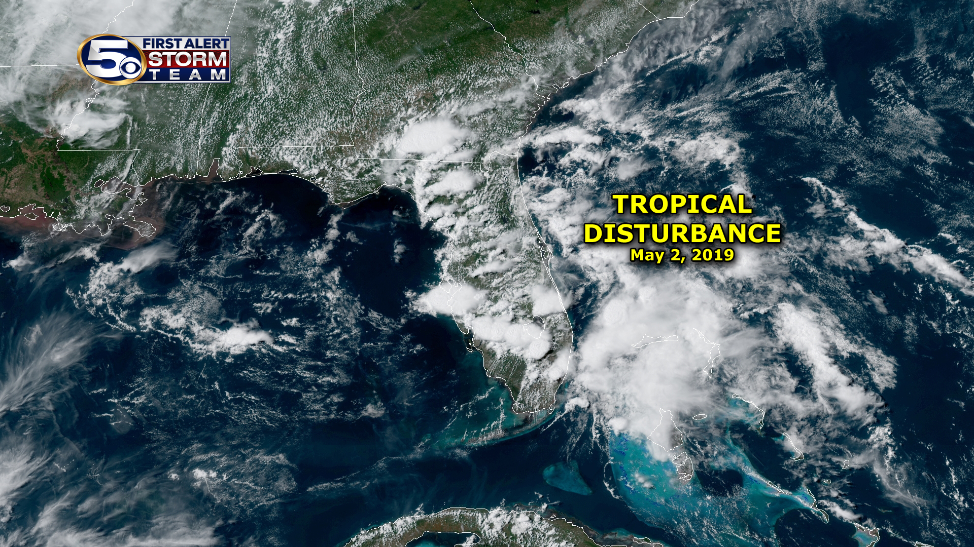 Tropical Disturbance in May 2019