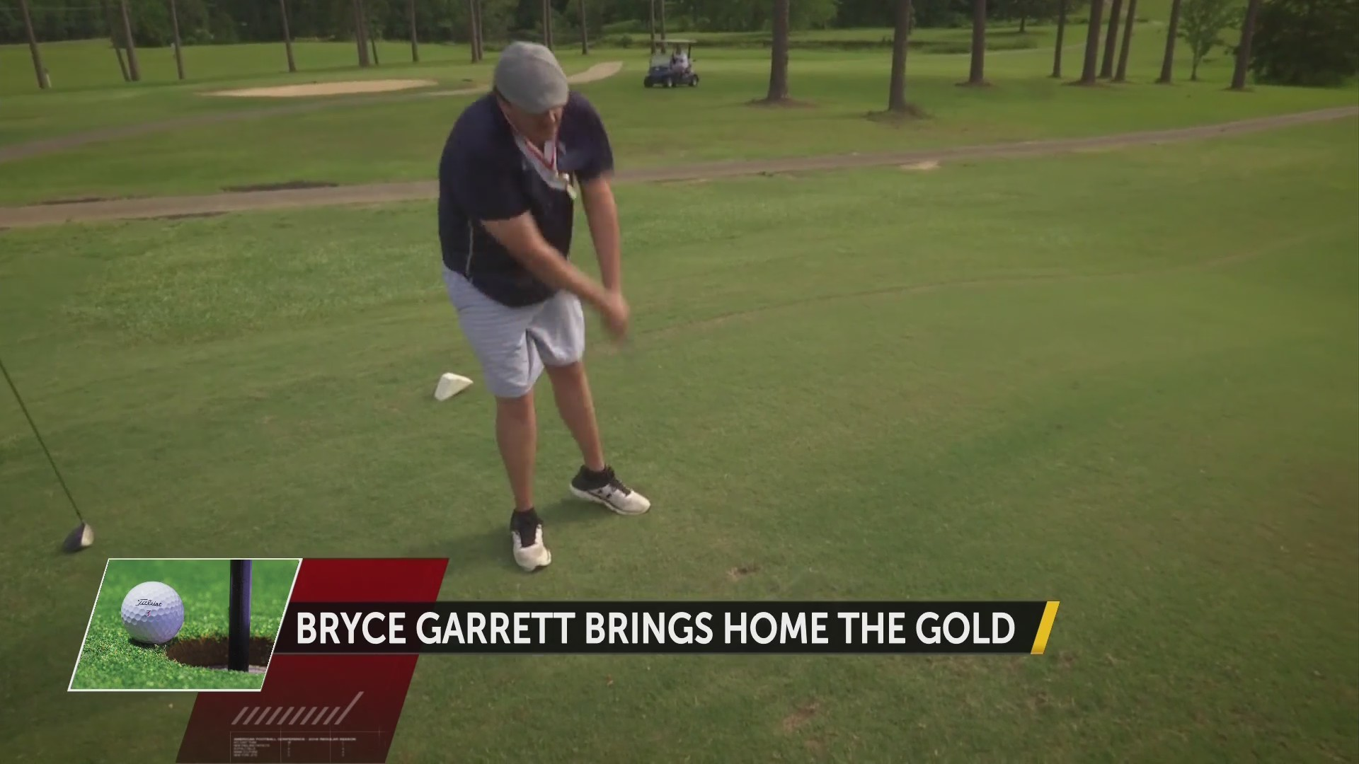 Bryce Garret Golf Gold Medal