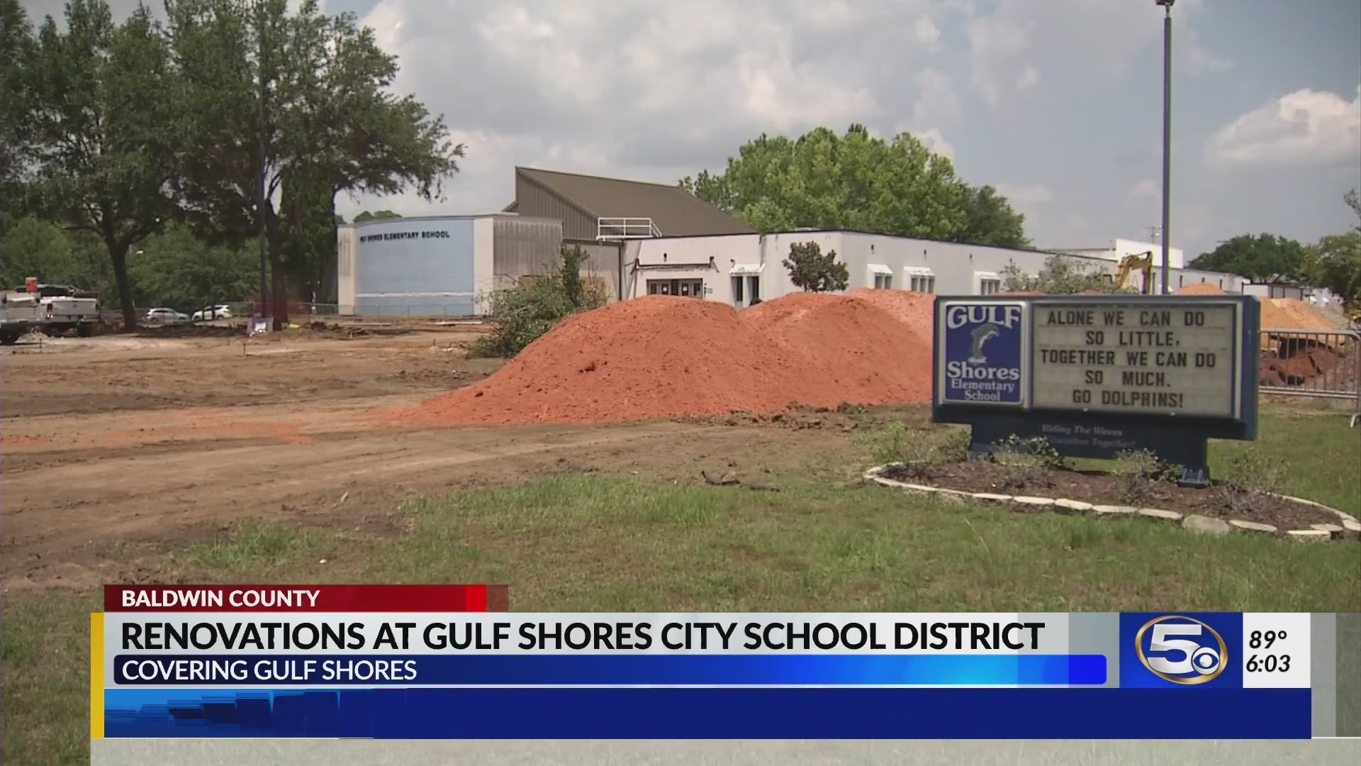 "First ""wave"" of changes at Gulf Shores City Schools"