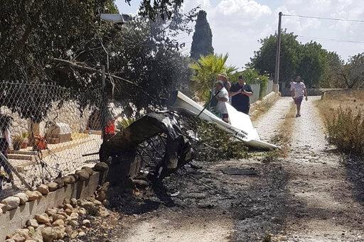 Helicopter, small plane crash in Spain's Mallorca
