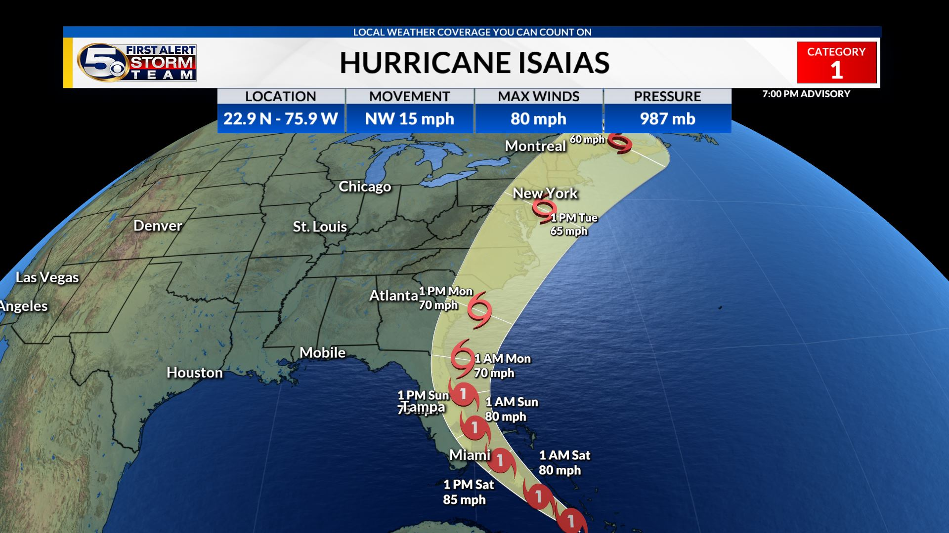 Hurricane Isaias Getting Stronger Impacts To Florida