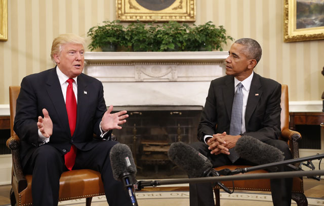 Donald Trump and Barack Obama_337530