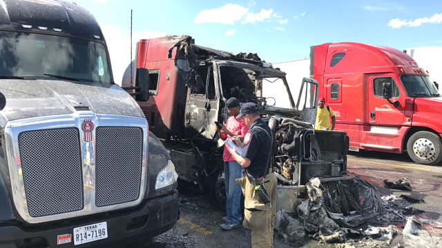 18 wheeler fire at Pilot station_397916