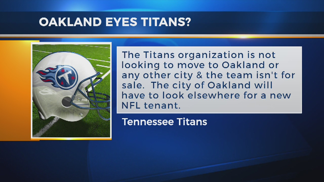 Is Oakland eyeing the Tennessee Titans? Front office responds to reports