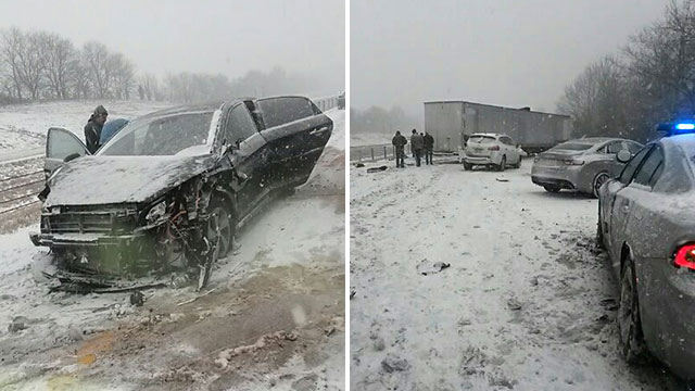 2 injured in 10-vehicle crash on I-24 on Kentucky state line