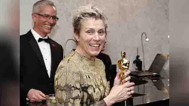 Frances McDormand with her Oscar_492025