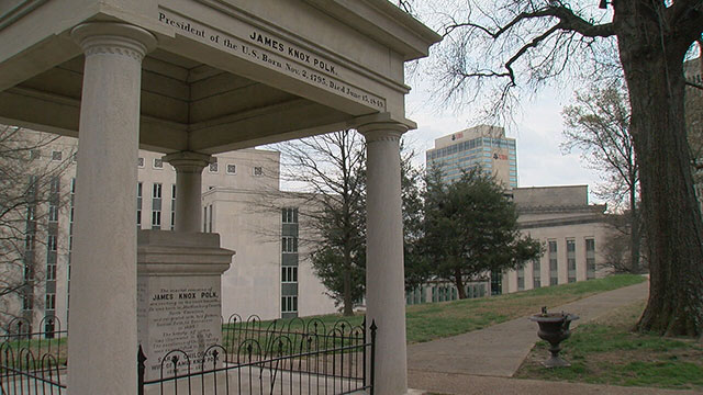 James K Polk grave at Tennessee State capitol_394059