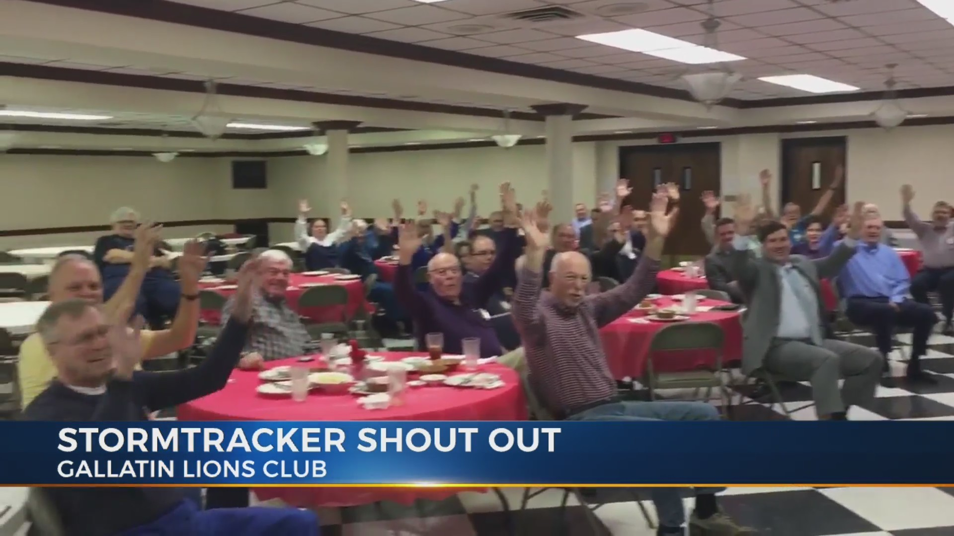Storm Tracker Shout out at the Gallatin Lions Club