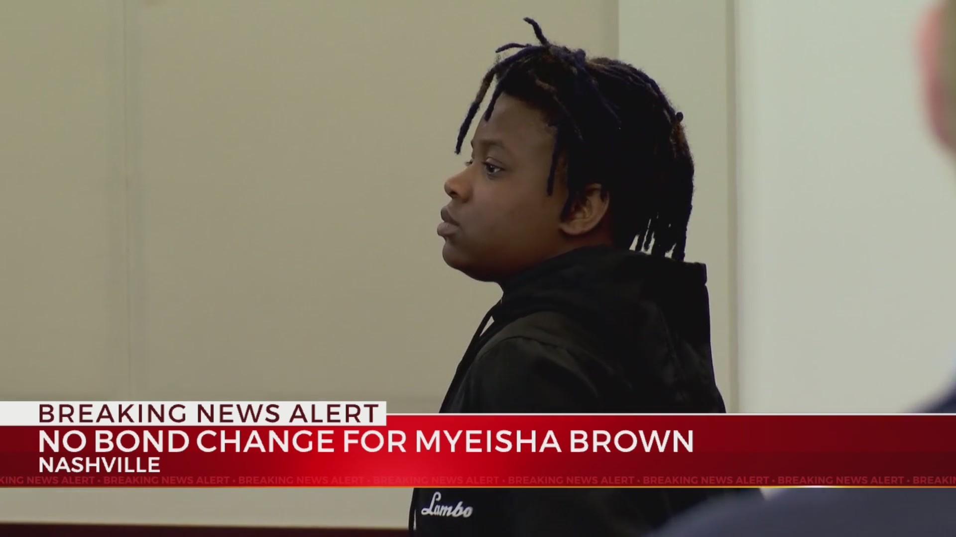 Judge does not revoke bond of 18-year-old murder suspect Myeisha Brown