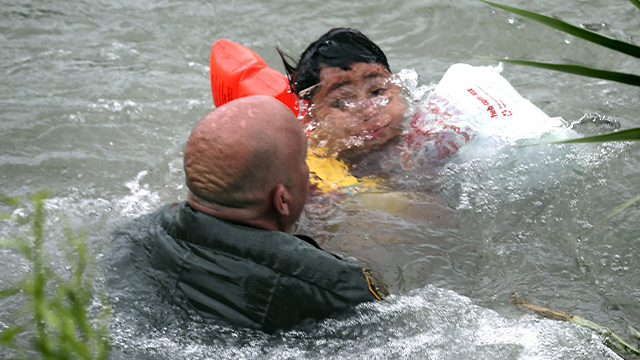 drowning boy border