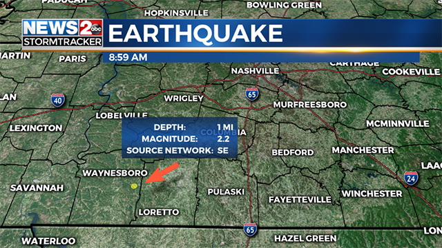 Loretto earthquake