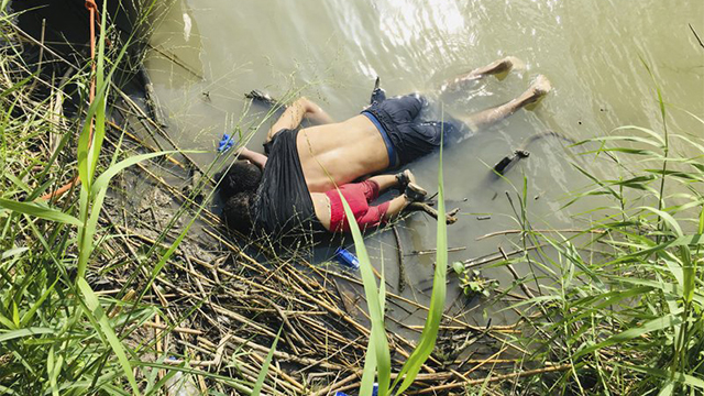 graphic drowning immigrant