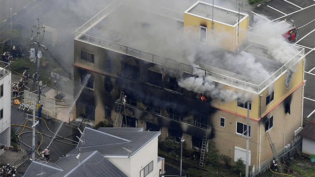 Japan animation arson