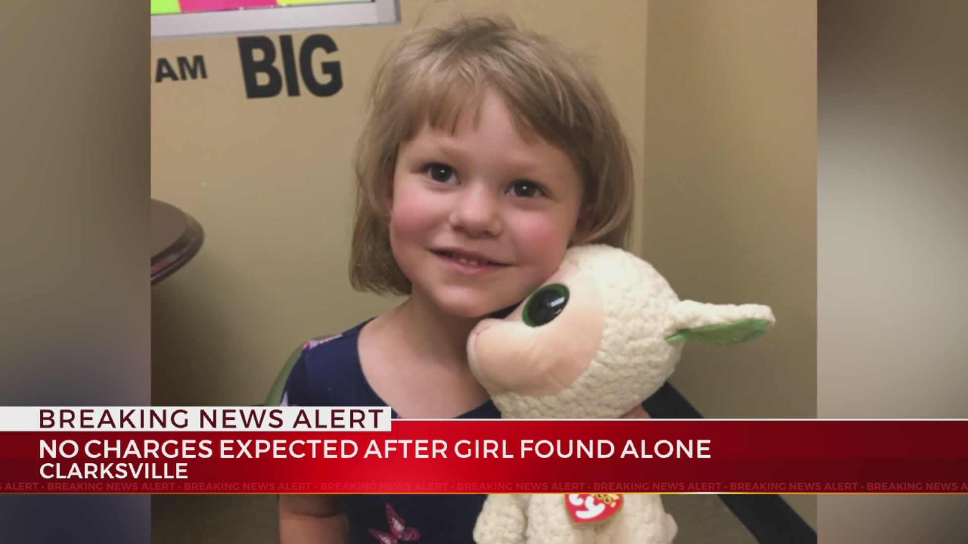 No charges after four-year-old found wandering alone in