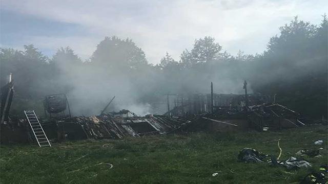Brown's Chapel Road fire