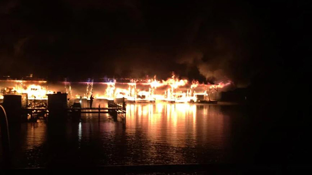 Scottsboro Alabama marina fire