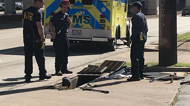 Austin man trapped in sewer