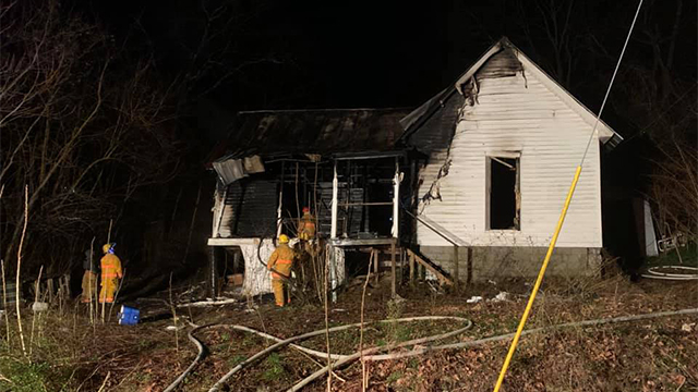 Trousdale house fire