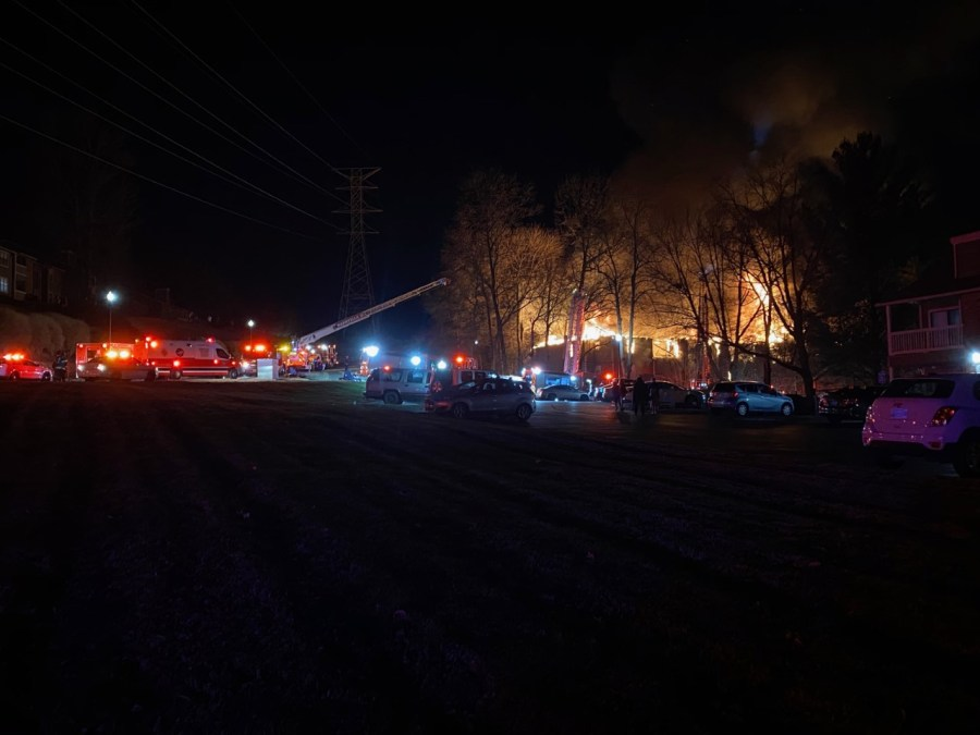 fire at hermitage apartment complex