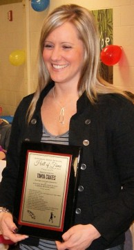 Tonya Coates happy to be in the Wyoming High School Hall of Fame.