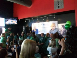 Chubby's Bar and Grill was packed with supporters for childhood cancer research.