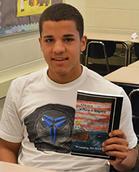 "Junior Juan Hernandez wrote about moving from Puerto Rico for the book ""Always a New Chapter"""