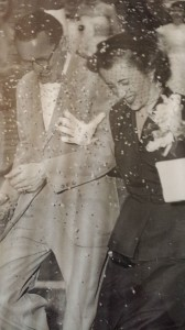 Robert and Judith Wylie on their wedding day in 1953. The couple met while working at JC Penney on the east coast.