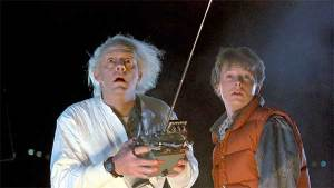 """Christopher Lloyd and Michael J. Fox in the 1985 film """"Back to the Future."""""""