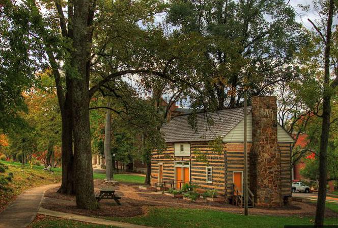 Fall Cabin The Woods Wallpaper Felts Log House Western Kentucky University