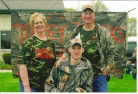 The late Eric Corey and his parents