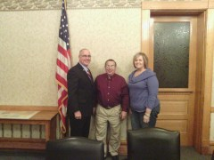 Pulaski County Commissioners Larry Brady, Terry Young and Tracey Shorter