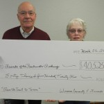 Dan and Virginia Dolezal presented this check for $40,525 to the Panhandle Pathway project.