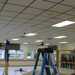 New ceiling tiles were installed at the Knox VFW, courtesy of Team Depot.