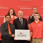 Richard Lugar and students