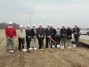 Officials break ground