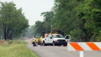 SR 23 is closed at Toto Road after a sinkhole developed about a quarter of a mile north.