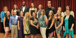 Graduates of the Ancilla College ASN program after their recent pinning ceremony.