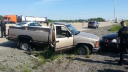 Officers from the Crown Point Police Department used stop sticks to end a four-county high-speed chase.