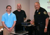 Starke County Prosecutor Nicholas Bourff (left), Frank Thomas and Town Marshal Doug Vessely. Photo provided