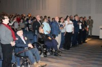 Veterans packed the North Judson-San Pierre High School auditorium Tuesday for a program put on by middle school students.