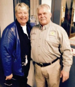 President of the Starke County Commissioners Jennifer Davis and Starke County Sheriff Oscar Cowen