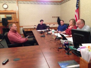 Ed Clark gives his last report as director of the Pulaski County Recycling Center.
